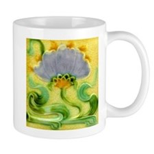Art Nouveau Floral Tile Coffee Mug