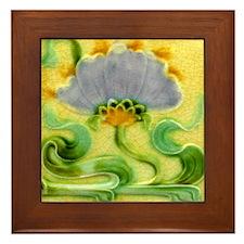 Art Nouveau Floral Framed Wall Tile