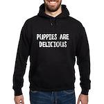 Puppies are delicious Hoodie (dark)