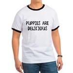 Puppies are delicious Ringer T