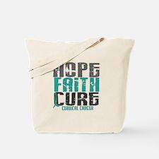 HOPE FAITH CURE Cervical Cancer Tote Bag