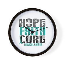 HOPE FAITH CURE Cervical Cancer Wall Clock