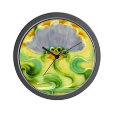 Art Nouveau Floral Tile Wall Clock