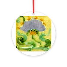 Art Nouveau Floral Tile Ornament or Pendant