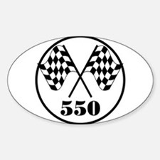 550 Oval Decal