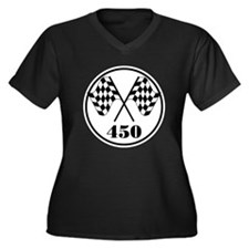 450 Women's Plus Size V-Neck Dark T-Shirt