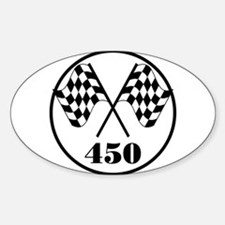 450 Oval Decal