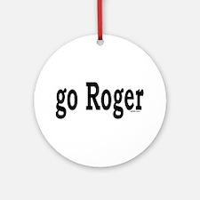 go Roger Ornament (Round)