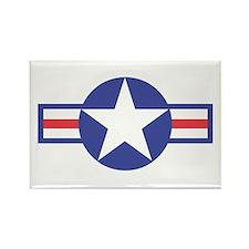 US USAF Aircraft Star Rectangle Magnet