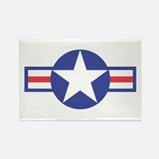 US USAF Aircraft Star Rectangle Magnet
