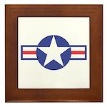 US USAF Aircraft Star Framed Tile