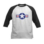 US USAF Aircraft Star Kids Baseball Jersey