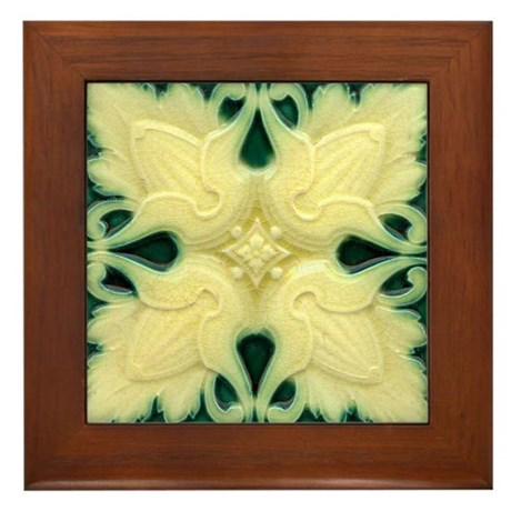 Art Nouveau Wall Tile Framed Tile Plaque