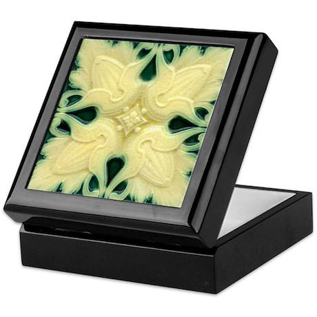 Art Nouveau Wall Tile Black Lacquer Jewel Box
