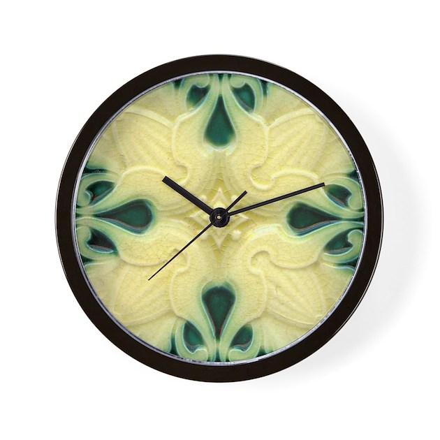 Wall Clock Art Nouveau : Art nouveau wall tile clock by vintageartgirl
