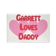 Garrett Loves Daddy Rectangle Magnet