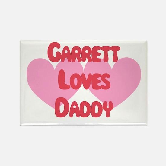 Garrett Loves Daddy Rectangle Magnet