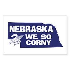Nebraska Rectangle Decal