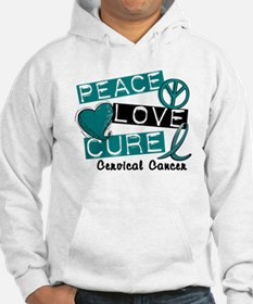 Peace Love Cure Cervical Cancer Hoodie
