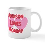 Addison loves mom Drinkware