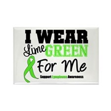 IWearLimeGreen For Me Rectangle Magnet