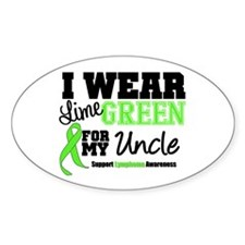 IWearLimeGreen Uncle Oval Decal