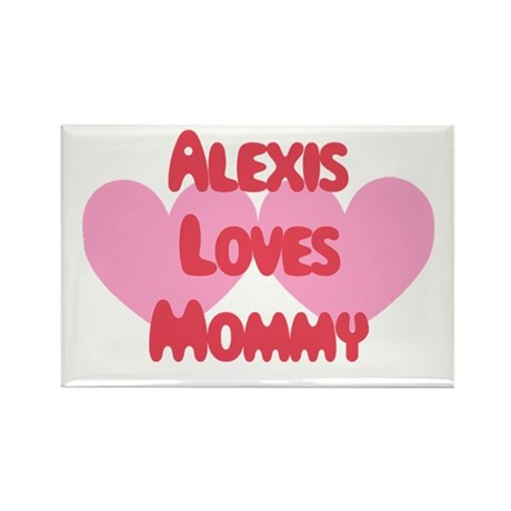 Alexis Loves Mommy Rectangle Magnet