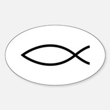Christian Fish Oval Decal