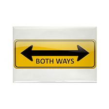 Both Ways Sign Rectangle Magnet
