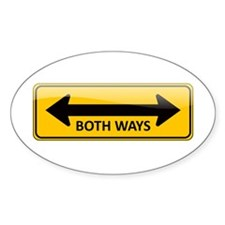 Both Ways Sign Oval Decal