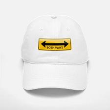 Both Ways Sign Baseball Baseball Cap