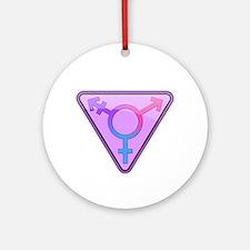 Transgender Symbol Round Ornament