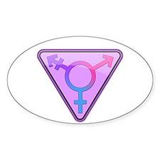 Transgender Symbol Oval Bumper Stickers