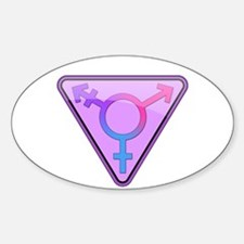 Transgender Symbol Oval Decal