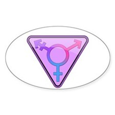 Transgender Symbol Oval Stickers