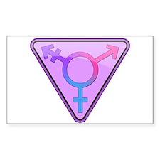 Transgender Symbol Rectangle Decal