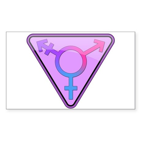 Transgender Symbol Rectangle Sticker