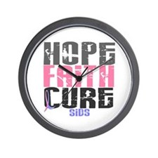 HOPE FAITH CURE SIDS Wall Clock
