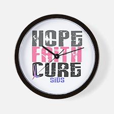 HOPE FAITH CURE SIDS Wall Clock