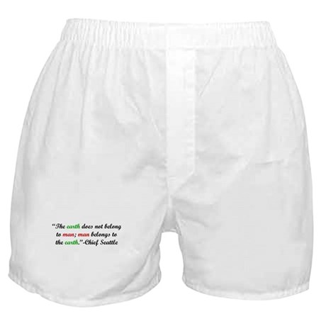 The Earth Does Not Belong to Boxer Shorts