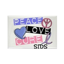 PEACE LOVE CURE SIDS Rectangle Magnet