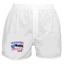 PEACE LOVE CURE SIDS Boxer Shorts