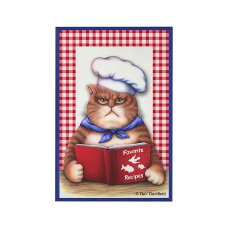 Kitchen Cat Rectangle Magnet (10 pack)