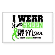 IWearLimeGreen Mom Rectangle Decal