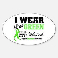 IWearLimeGreen Husband Oval Sticker (10 pk)