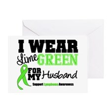 IWearLimeGreen Husband Greeting Card