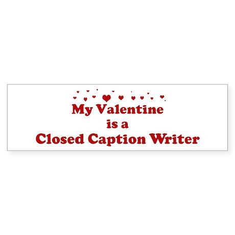 Valentine: Closed Caption Wri Sticker (Bumper 10 p