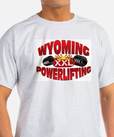 WYOMING Powerlifting! Ash Grey T-Shirt