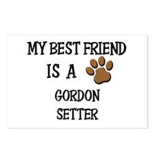 My best friend is a GORDON SETTER Postcards (Packa