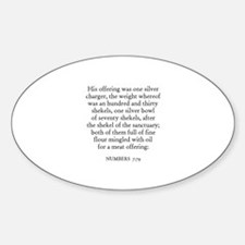NUMBERS 7:79 Oval Decal